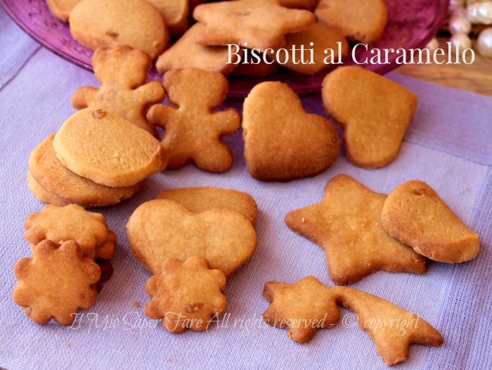 Biscotti al caramello | Frollini al caramello golosissimi ricetta il mio saper fare