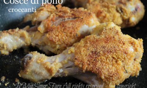 Cosce di pollo in padella croccanti dorate e gustose