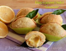 Limoni dolci ripieni di crema ricetta | Dolcetti a forma di limone ricetta il mio saper fare