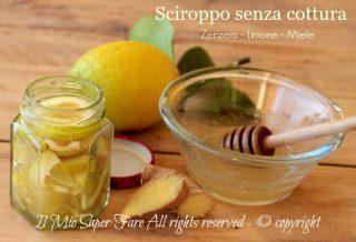 Sciroppo limone zenzero miele senza cottura rimedio per l'influenza il mio saper fare