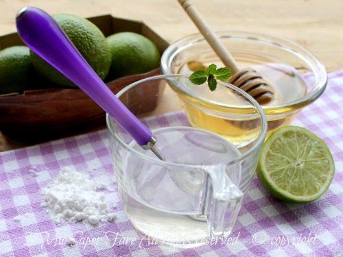 Contro la nausea un rimedio naturale con lime miele e bicarbonato