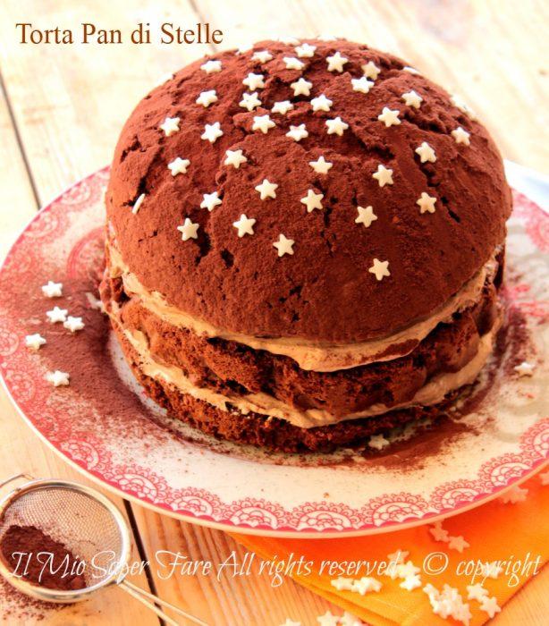 Torta pan di stelle con panna e nutella dolce al cioccolato senza burro