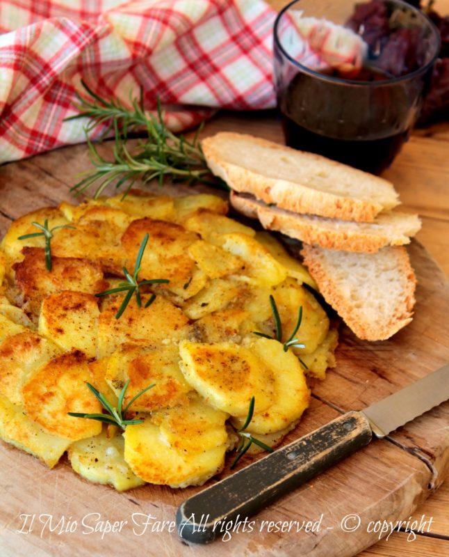 Frittata di patate senza uova ricetta calabrese il mio saper fare
