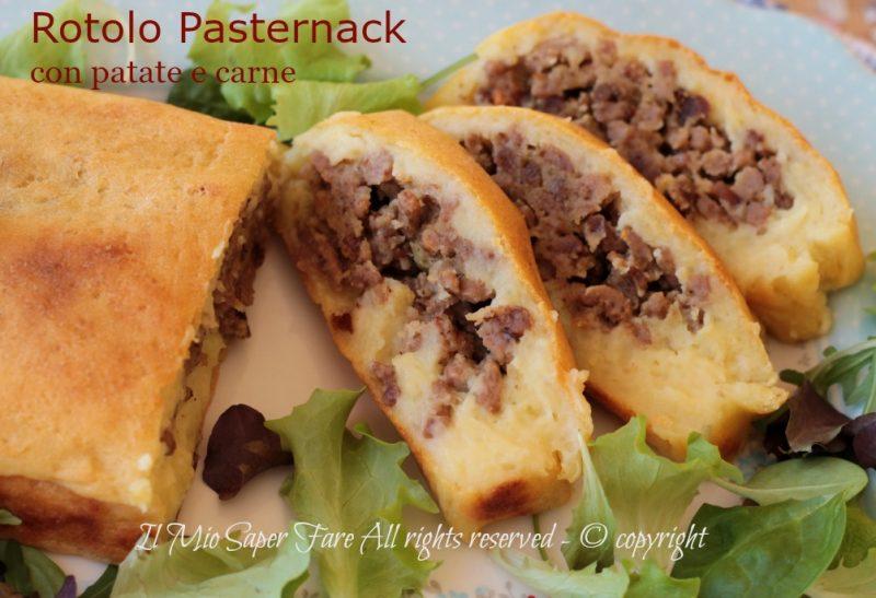 Rotolo patate e carne Pasternack ricetta della tradizione il mio saper fare