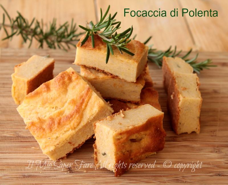 Focaccia di polenta con grano saraceno ricetta senza glutine il mio saper fare