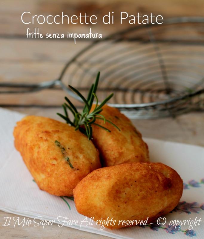 Crocchette di patate fritte senza impanatura ricetta il mio saper fare