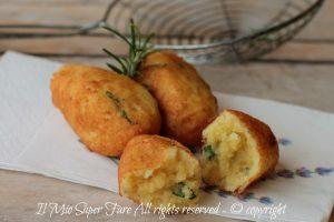 Crocchette di patate fritte senza impanatura con un segreto della nonna