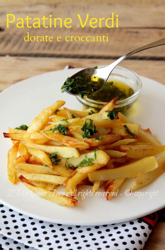 Patatine al forno verdi croccanti e gustose ricetta di famiglia il mio saper fare