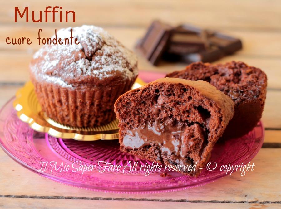Muffin cuore fondente senza burro soffici golosi e facili ricetta il mio saper fare