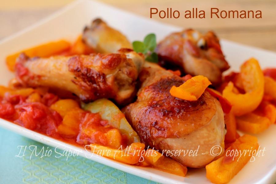 Pollo alla romana con peperoni ricetta il mio saper fare