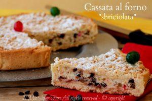 Cassata al forno sbriciolata dolce siciliano con ricotta golosissimo