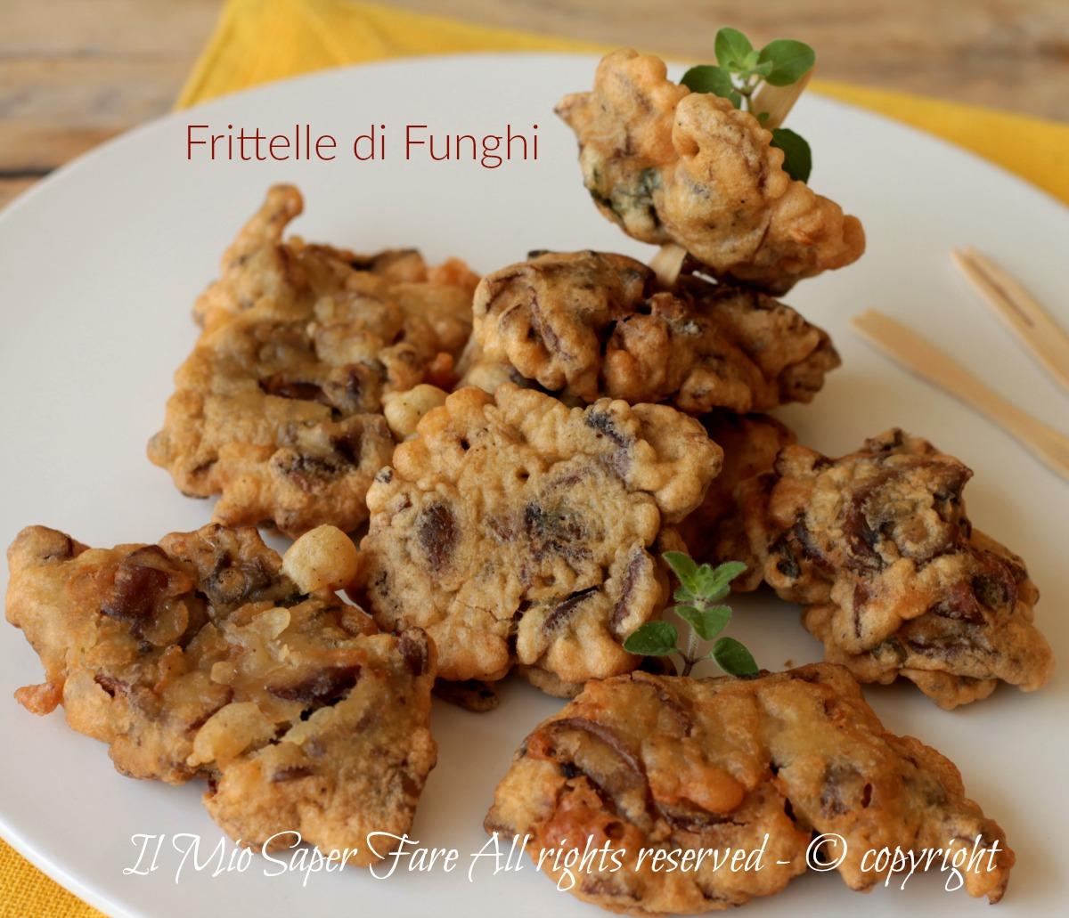 Frittelle di funghi ricetta facile funghi pastellati fritti il mio saper fare