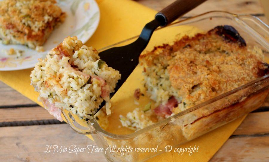 Sformato di riso e zucchine primo piatto leggero e facile il mio saper fare