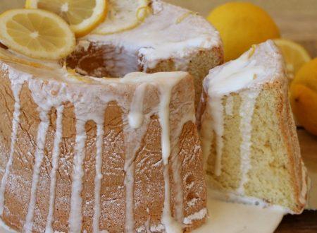Ciambellone americano al limone   Ricetta chiffon cake fluffosa