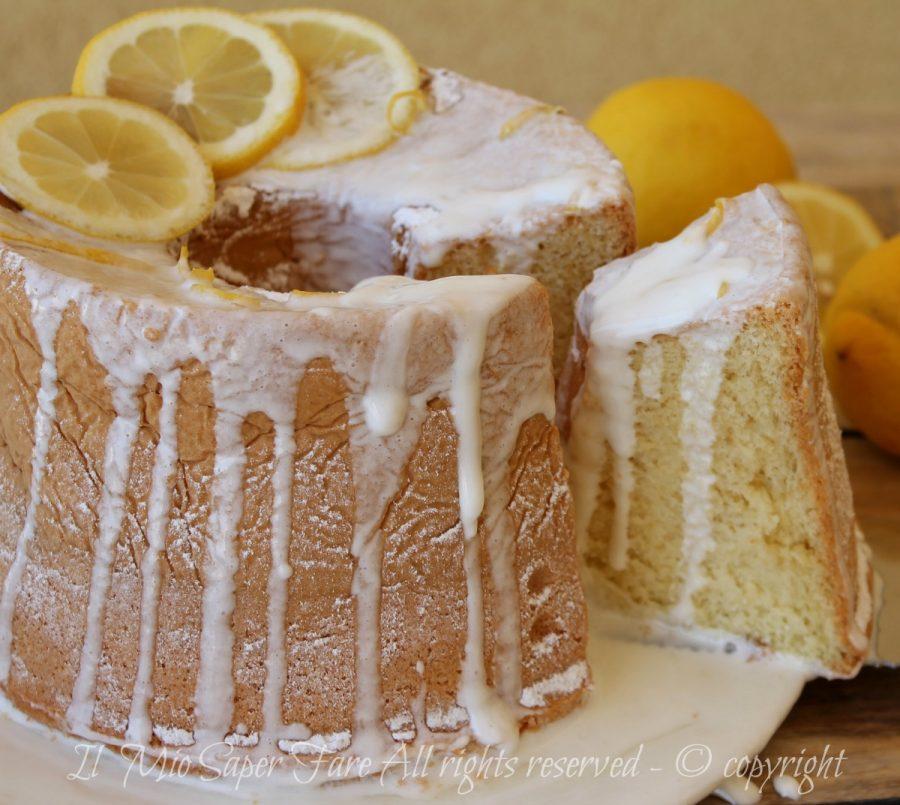Ciambellone americano al limone | Ricetta chiffon cake fluffosa il mio saper fare