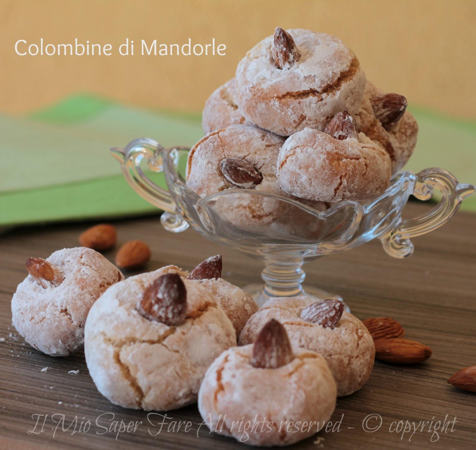 Colombine di mandorle   dolci di mandorle facili e veloci ricetta il mio saper fare