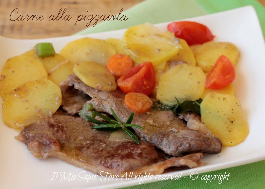 Carne alla pizzaiola con patate tenera e gustosa ricetta il mio saper fare