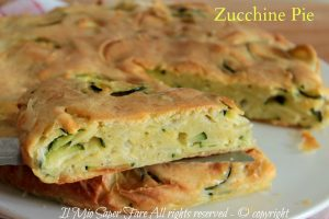 Zucchine pie torta salata americana veloce e facile