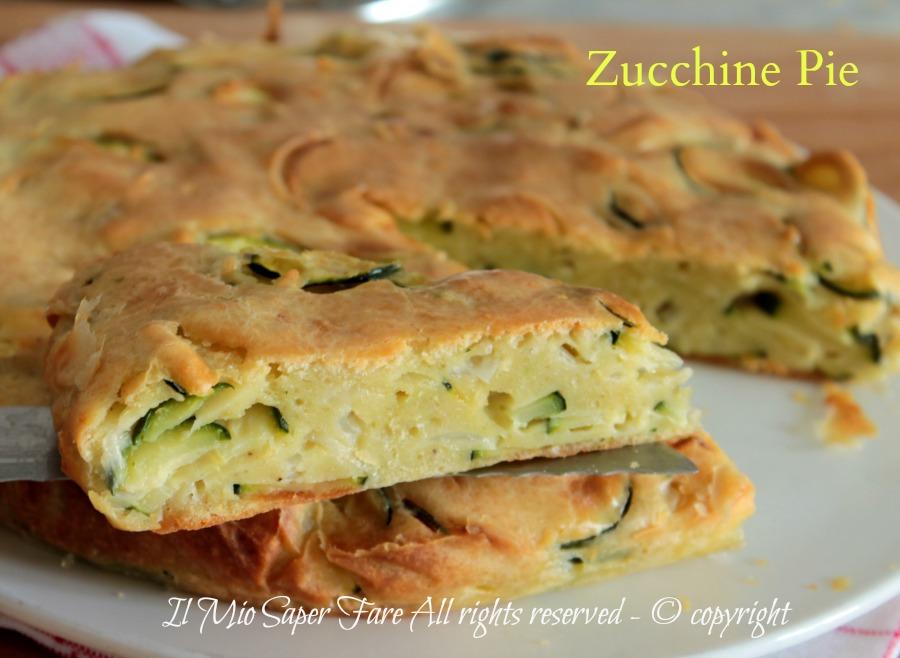 Zucchine pie torta salata americana veloce e facile ricetta il mio saper fare
