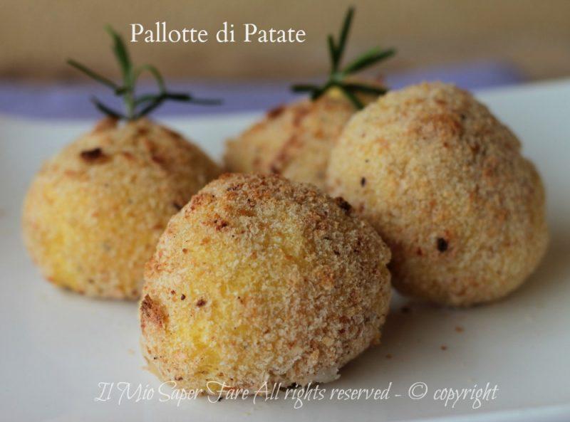 Pallotte di patate al forno ripiene di prosciutto e formaggio ricetta il mio saper fare