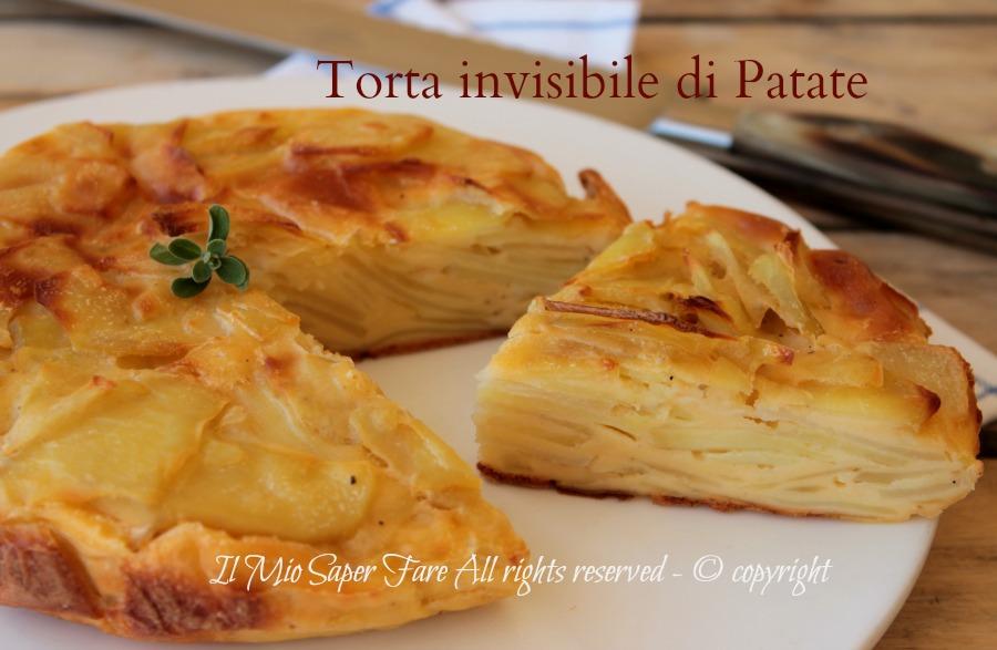 Torta invisibile di patate ricetta torta salata con patate il mio saper fare