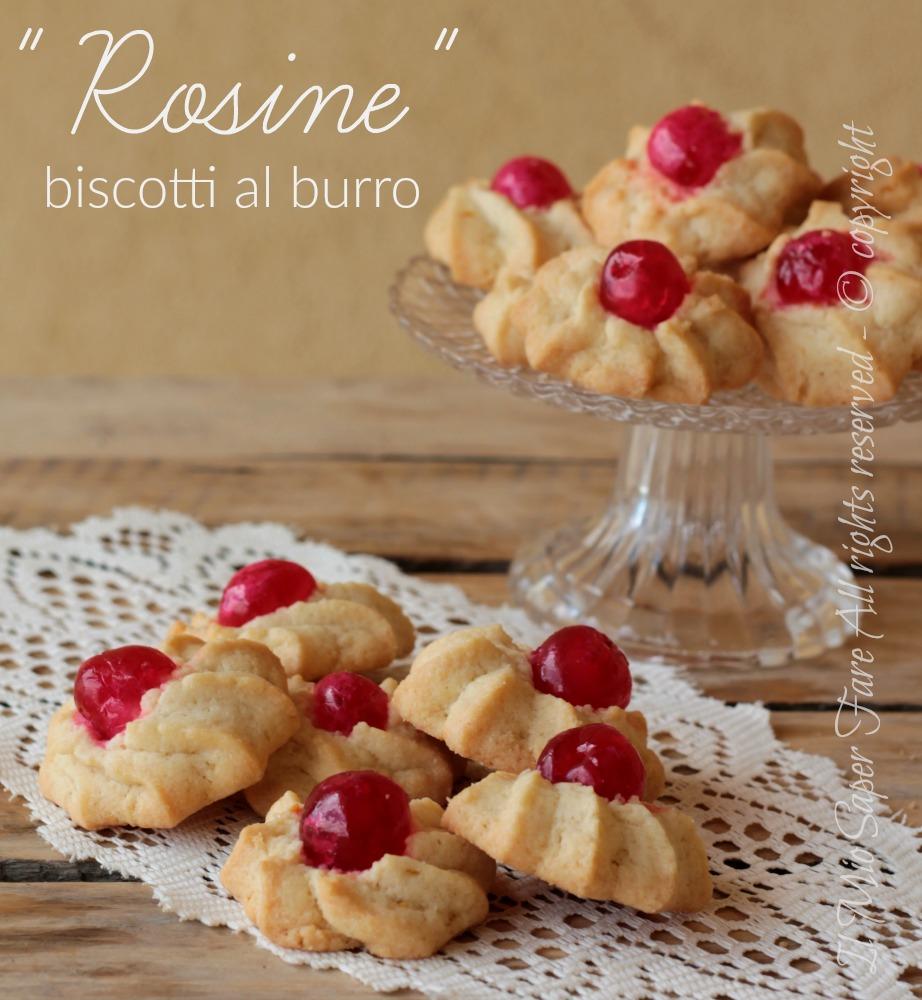 Rosine biscotti al burro facile veloci e di sicura riuscita ricetta il mio saper fare