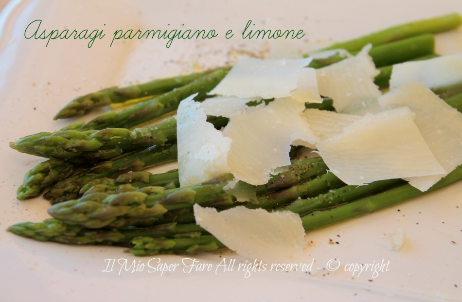 Asparagi parmigiano e limone contorno facile e veloce ricetta il mio saper fare