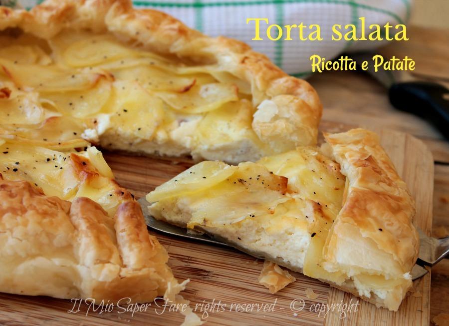 Rustico con ricotta e patate , torta salata strepitosa! Ricetta il mio  saper fare