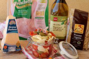 Pasta fredda in vasetto di vetro ricetta food jar facile e veloce
