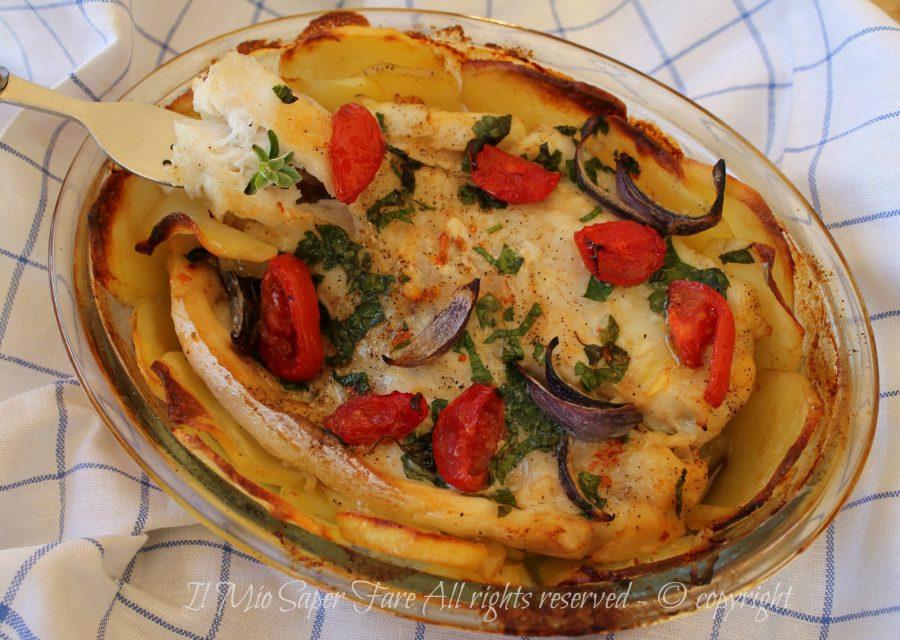 Tian di patate con pesce persico   Ricetta facile con pesce persico il mio saper fare