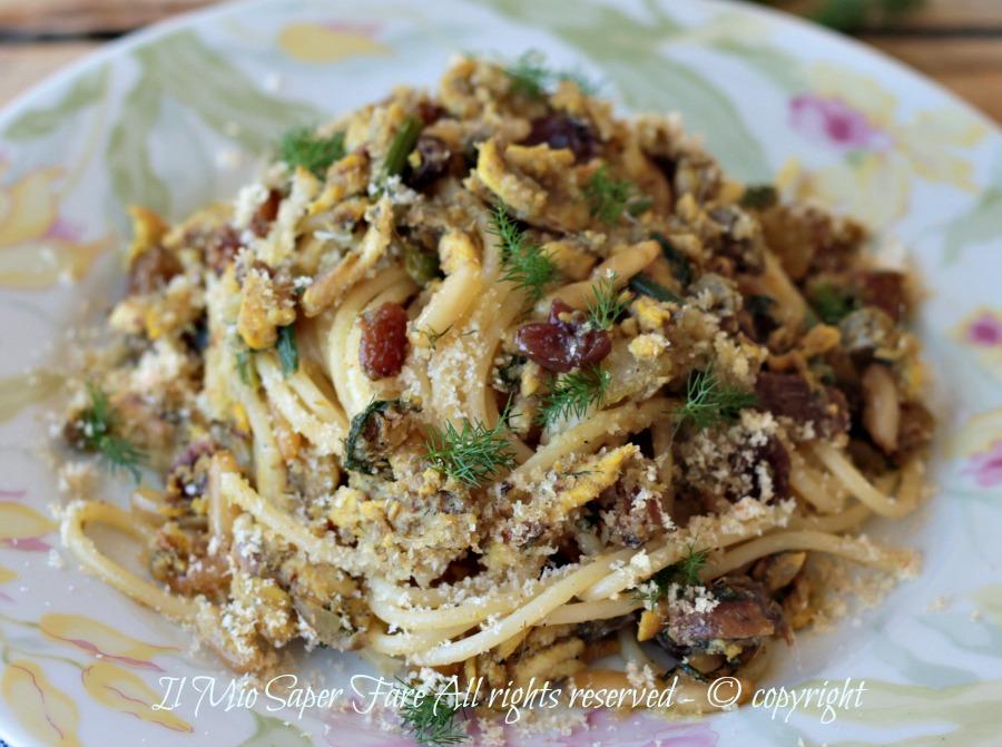 Pasta con le sarde e finocchietto selvatico ricetta siciliana il mio saper fare