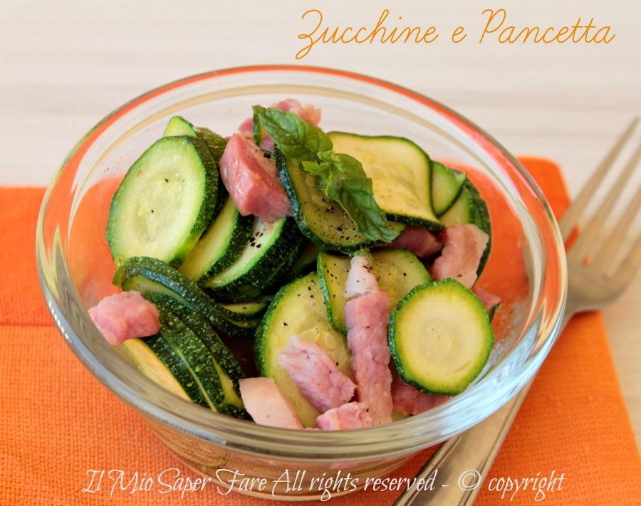 Zucchine e pancetta in padella condimento per pasta ricetta il mio saper fare