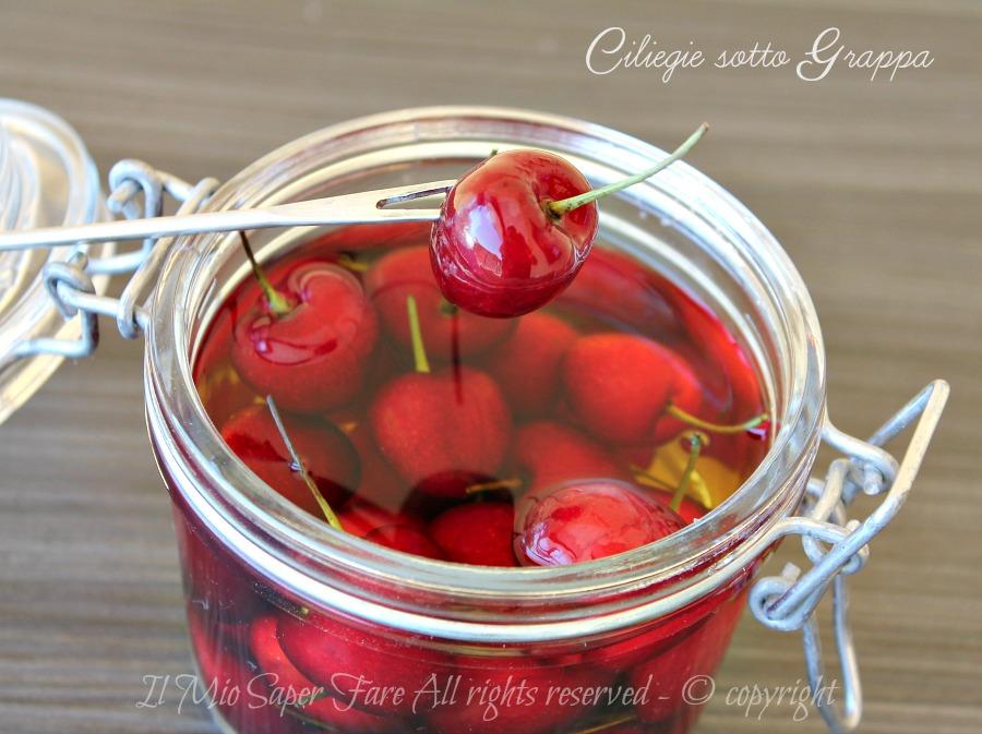 Ciliegie sotto grappa conservare le ciliegie ricetta il mio saper fare