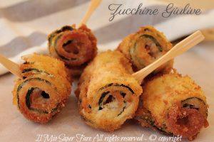 Zucchine arrotolate giulive con speck ricetta facile