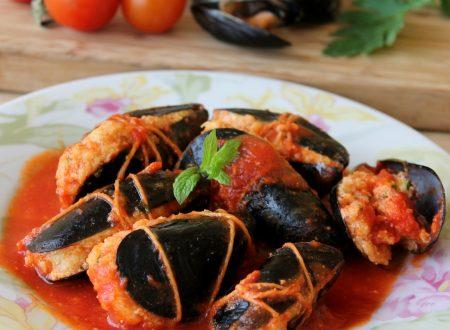 Cozze ripiene al sugo ricetta facile con ricotta | Il Mio Saper Fare