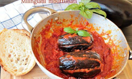 "Melanzane abbottonate ricetta calabrese ""Milingiani 'mbuttunati"""