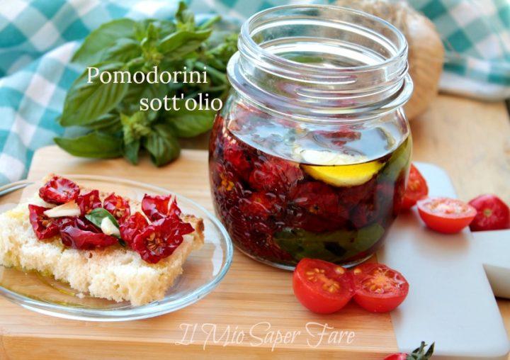 Pomodorini sotto olio essiccati al sole conserva facile il mio saper fare