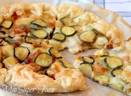 Pasta sfoglia zucchine e patate per una torta salata veloce e facile