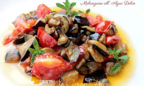 Melanzane all'agro dolce ricetta estiva leggera e gustosa