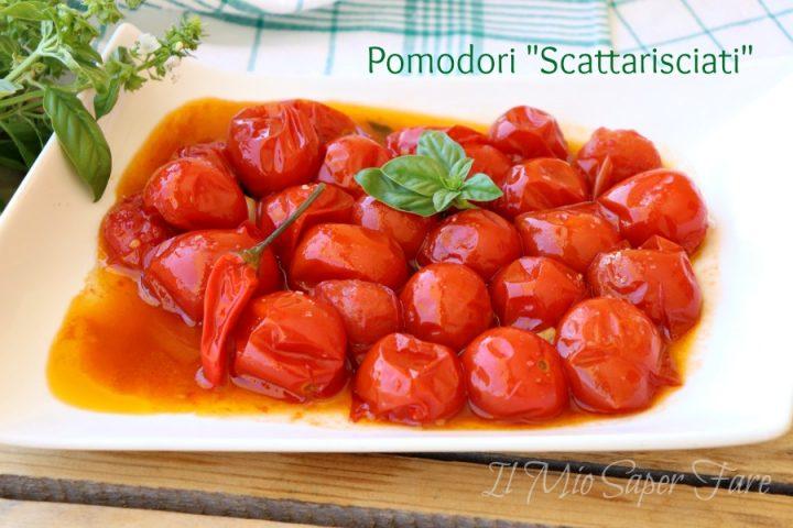 Pomodori scattarisciati ricetta pugliese facile e gustosa il mio saper fare