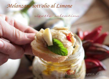 Melanzane al limone sott'olio ricetta salentina