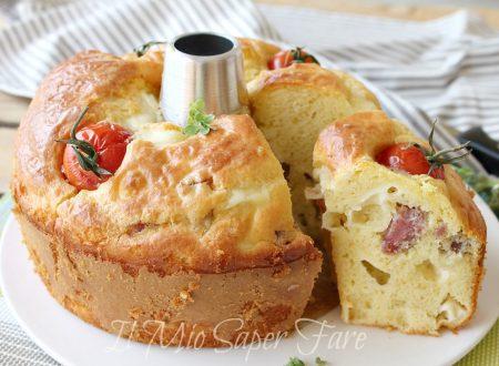 Chiffon cake salata senza lievitazione sofficissima ricetta torta rustica