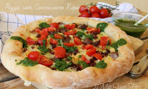 Pizza con cornicione ripieno fatta in casa – pizza con farina di semola