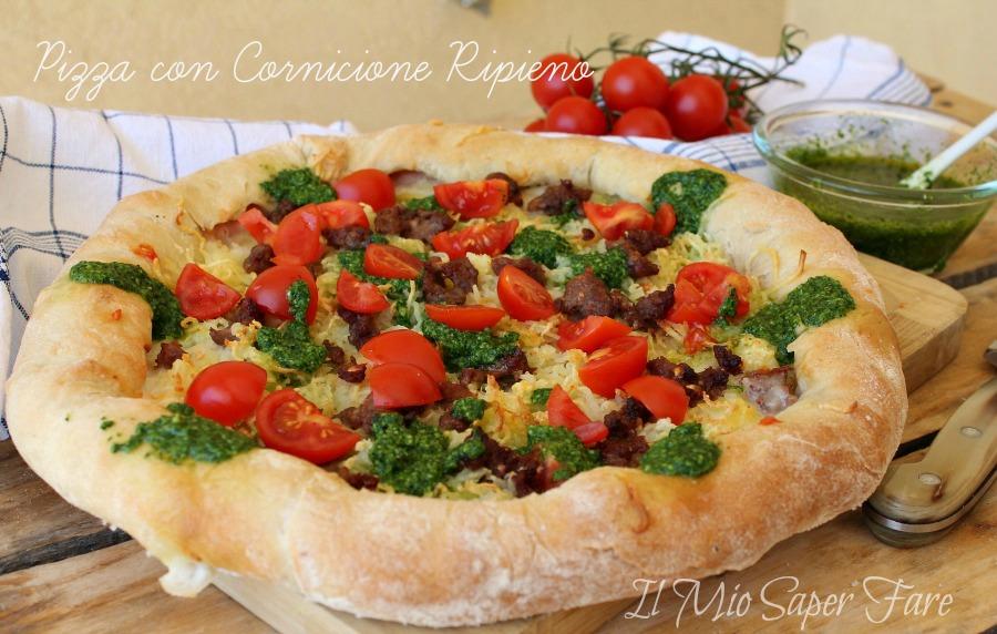 Pizza con cornicione ripieno fatta in casa pizza con - Cornicione casa ...