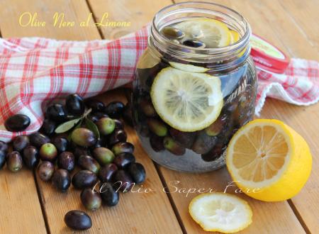 Olive nere al limone e sale | Addolcire e conservare le olive