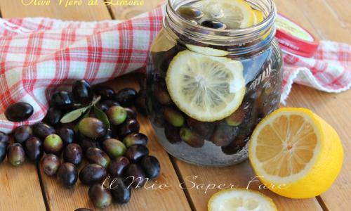 Olive nere al limone e sale   Addolcire e conservare le olive