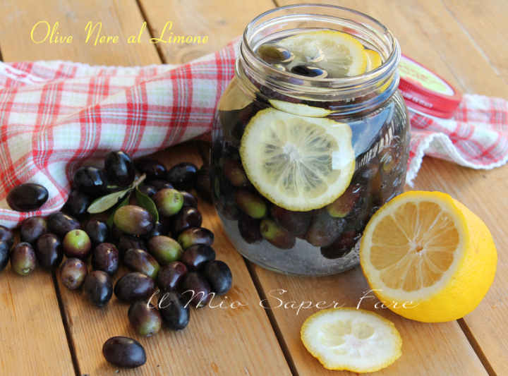 Olive nere al limone e sale | Addolcire e conservare le olive il mio saper fare