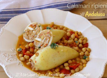 Calamari ripieni Andalusa con ceci ricetta spagnola
