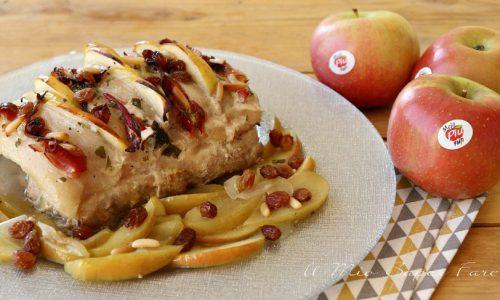 Arrosto mele e speck ricetta secondo piatto raffinato e facile