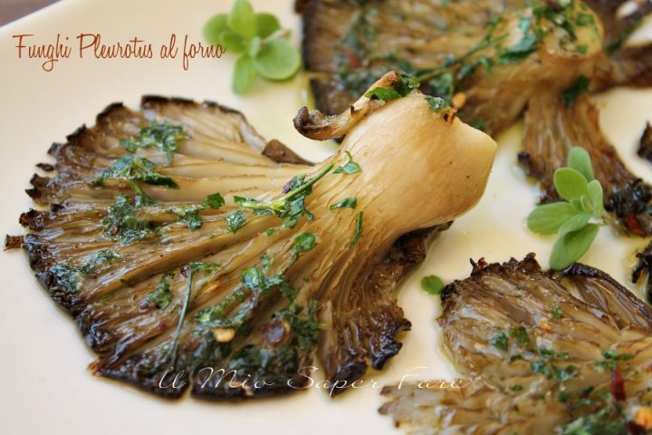 Funghi Pleurotus al forno ricetta facile leggera e gustosa il mio saper fare